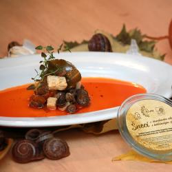 Šneci v oleji s balkánským sýrem, 130g